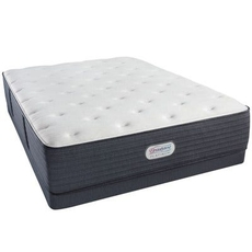 Full Simmons Beautyrest Platinum Spring Grove Plush 13.8 Inch Mattress Set with Low Profile Box Spring