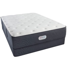 Full Simmons Beautyrest Platinum Spring Grove Plush 13.8 Inch Mattress Set with Regular Height Box Spring