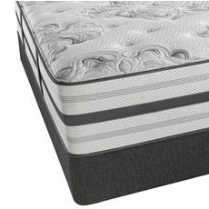 Queen Simmons Beautyrest Platinum Sunland Firm Mattress with SmartMotion 1.0 Adjustable Base