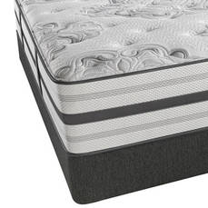 King Simmons Beautyrest Platinum Sunland Firm Mattress with SmartMotion 2.0 Adjustable Base