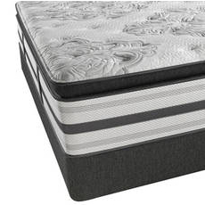 King Simmons Beautyrest Platinum Treasure Plush Pillow Top Mattress with SmartMotion 2.0 Adjustable Base
