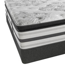 Queen Simmons Beautyrest Platinum Treasure Plush Pillow Top Mattress with SmartMotion 2.0 Adjustable Base