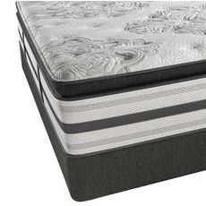 Queen Simmons Beautyrest Platinum Tripp Luxury Firm Pillow Top Mattress with SmartMotion 1.0 Adjustable Base