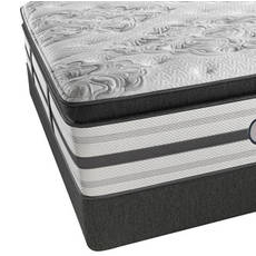 Queen Simmons Beautyrest Platinum Trixie Plush Pillow Top Mattress with SmartMotion 1.0 Adjustable Base