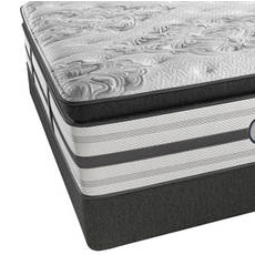 King Simmons Beautyrest Platinum Tulsa Luxury Firm Pillow Top Mattress with SmartMotion 1.0 Adjustable Base