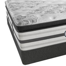 King Simmons Beautyrest Platinum Tulsa Luxury Firm Pillow Top Mattress with SmartMotion 3.0 Adjustable Base