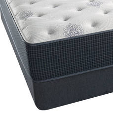 Queen Simmons Beautyrest Silver Adda III Plush Mattress with SmartMotion 2.0 Adjustable Base