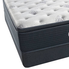 Queen Simmons Beautyrest Silver Kenosha Place III Luxury Firm Pillow Top Mattress with SmartMotion 1.0 Adjustable Base
