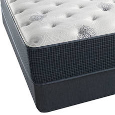 Queen Simmons Beautyrest Silver Kenosha Place III Plush Mattress with SmartMotion 3.0 Adjustable Base