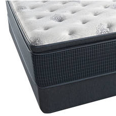 King Simmons Beautyrest Silver Kenosha Place III Plush Pillow Top Mattress with SmartMotion 1.0 Adjustable Base