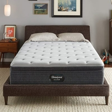 Full XL Simmons Beautyrest Silver Kenosha Place 4 Plush Euro Top 13 Inch Mattress