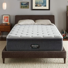 Full XL Simmons Beautyrest Silver Kenosha Place 4 Plush Pillow Top 14.75 Inch Mattress