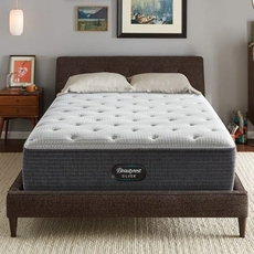 Simmons Beautyrest Silver Lydia Manor 4 Plush 14.5 Inch Twin Mattress Only SDMB042128 - Scratch and Dent Model ''As-Is''
