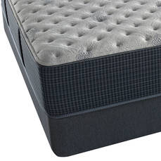 Simmons Beautyrest Silver Lydia Manor III Extra Firm King Mattress Set with FREE Regular Height Clearance Foundation and Bed Frame OVMS031814