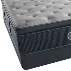 Simmons Beautyrest Silver Lydia Manor III Luxury Firm Pillow Top Queen Mattress Set with FREE Regular Height Clearance Foundation and Bed Frame OVMS031818