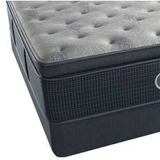 King Simmons Beautyrest Silver Lydia Manor III Plush Pillow Top Mattress