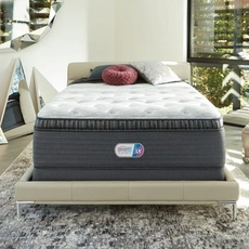King Simmons Beautyrest Platinum Haven Pines Plush Pillow Top 16.5 Inch Mattress Set