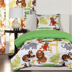 SIS Covers Crayola Jungle Love Twin Comforter Set