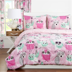 SIS Covers Crayola Night Owl Full/Queen Comforter Set