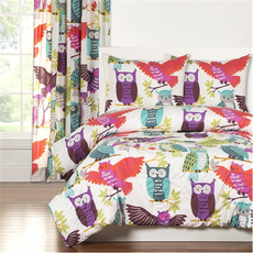 SIS Covers Crayola Owl Always Love You Full/Queen Comforter Set