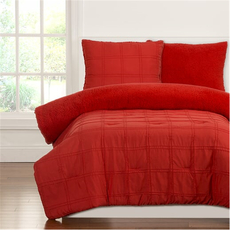SIS Covers Crayola Playful Plush Twin Comforter Set in Scarlet