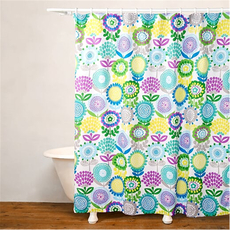 SIS Covers Crayola Pointillist Pansy Shower Curtain