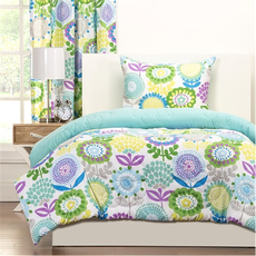 SIS Covers Crayola Pointillist Pansy Twin Comforter Set