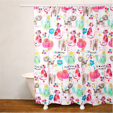 SIS Covers Crayola Purrty Cat Shower Curtain