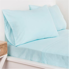 SIS Covers Crayola Queen Microfiber Sheet Set in Sky Blue