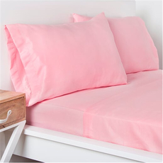 SIS Covers Crayola Queen Microfiber Sheet Set in Tickle Me Pink