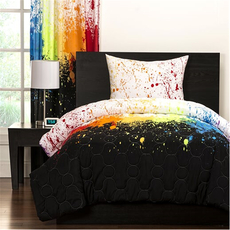 SIS Covers Crayola Twin Comforter Set in Cosmic Burst
