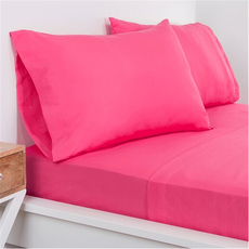 SIS Covers Crayola Twin Microfiber Sheet Set in Hot Magenta