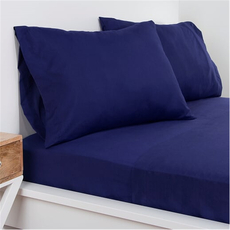 SIS Covers Crayola Twin Microfiber Sheet Set in Navy Blue