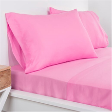 SIS Covers Crayola Twin Microfiber Sheet Set in Pink Flamingo