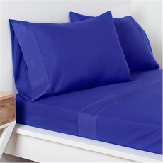 SIS Covers Crayola Twin Size Microfiber Sheet Set in Blue Berry Blue