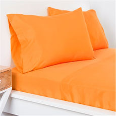 SIS Covers Crayola Twin Size Microfiber Sheet Set in Outrageous Orange