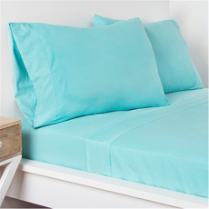 SIS Covers Crayola Twin Size Microfiber Sheet Set in Robin's Egg Blue