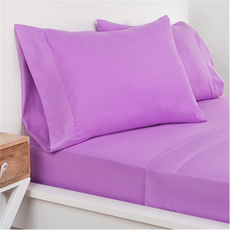 SIS Covers Crayola Twin Size Microfiber Sheet Set in Vivid Violet