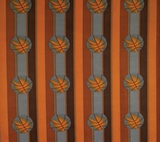 SIS Custom Fabrics Panel Curtains in Game Day