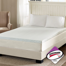 Sleep Philosophy Flexapedic 3 Inch Memory Foam Full Mattress Topper with 3M Moisture Management in White by JLA Home