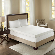 Sleep Philosophy Flexapedic 4 Inch Memory Foam Queen Mattress Topper in White by JLA Home
