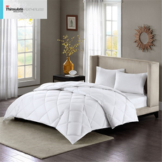 Sleep Philosophy Maximum Warmth Twin Cotton Sateen White Down Alternative 3M Thinsulate Comforter in White by JLA Home