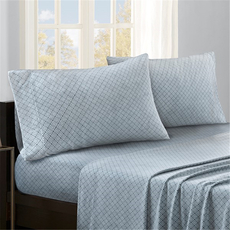 Sleep Philosophy True North Micro Fleece Queen Sheet Set in Blue Diamond by JLA Home