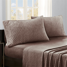 Sleep Philosophy True North Micro Fleece Queen Sheet Set in Brown Diamond by JLA Home