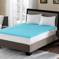 Sleep Philosophy Flexapedic Reversible 1.5 Inch Gel Memory Foam Twin Extra Large Cooling Mattress Topper in Blue by JLA Home