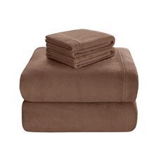 Sleep Philosophy True North Soloft Plush Full Sheet Set in Brown by JLA Home