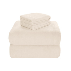 Sleep Philosophy True North Soloft Plush King Sheet Set in Ivory by JLA Home