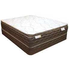 King Spring Air Back Supporter Saint Thomas Plush Euro Top 15 Inch Mattress