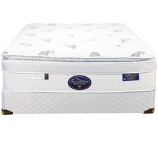 Queen Spring Air Back Supporter Platinum Emerald Deluxe Euro Top Mattress