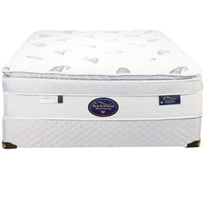Queen Spring Air Back Supporter Platinum Emerald Deluxe Euro Top 16 Inch Mattress